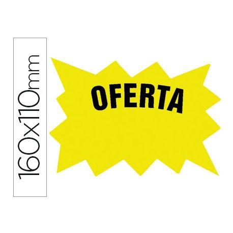 CARTEL CARTULINA ETIQUETAS MARCA PRECIOS AMARILLO FLUORESCENTE 160X110 MM