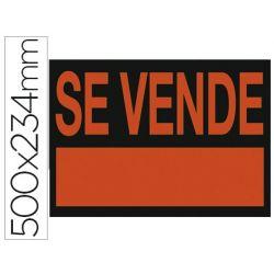 """CARTEL PLASTICO """"SE VENDE"""" ROJO FLUORESCENTE -500X234 MM"""