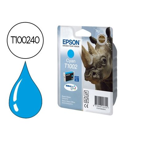CARTUCHO DE TINTA EPSON STYLUS T1002 CIAN SX515W / 600FW / 610FW / OFFICE B40W / BX600FW / 610FW