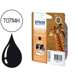 INK-JET EPSON T0711H DOBLE PACK D120 SX205 215 218 405 415 515W 600FW 610FW