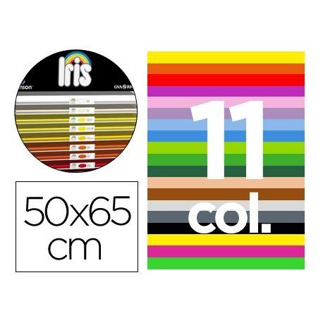 CARTULINA GUARRO 50X65 CONTENIDO C 25 HOJAS X 4 COLORES +25 HOJAS X 5 COLORES FLUO +25 HOJAS X2