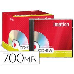 CD-RW IMATION CAPACIDAD 700MB DURACION 80MIN VELOCIDAD 12X-24X REGRABABLE ULTRA RAPIDO CAJA -10 UNID