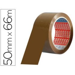 CINTA ADHESIVA TESA PVC COLOR MARRON 66MTSX50MM PARA EMBALAJE
