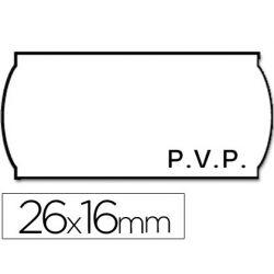 ETIQUETAS METO ONDULADAS 26 X 16 MM PVP BL. ADH 2 -ROLLO 1200 ETIQUETAS