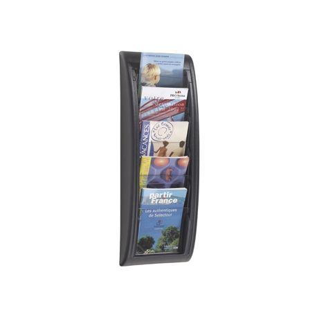EXPOSITOR MURAL FAST-PAPERFLOWDIN A5 NEGRO 5 CASILLAS 650X228X95 MM