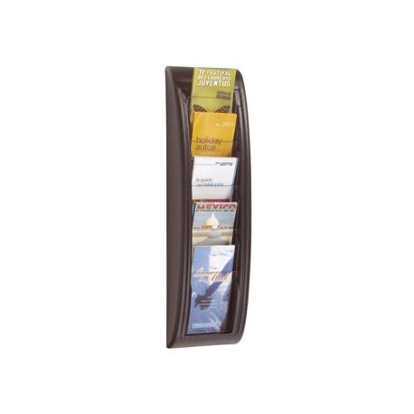 EXPOSITOR MURAL FAST-PAPERFLOWPOSTALES A6 NEGRO 5 CASILLAS 650X181X95 MM