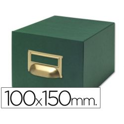 FICHERO FICHAS TELA VERDE 500 FICHAS N.3 -TAMA¾O 100X150 MM