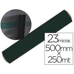 FILM EXTENSIBLE MANUAL BOBINA -ANCHO 500 MM. -LARGO 250 MT ESPESOR 23 MICRAS NEGRO