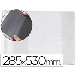 FORRALIBRO PVC CON SOLAPA AJUSTABLE ADHESIVO 285X530 MM