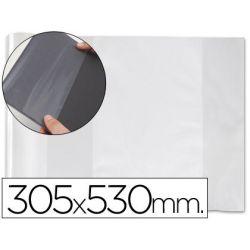 FORRALIBRO PVC CON SOLAPA AJUSTABLE ADHESIVO 305X530 MM