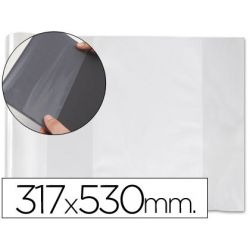 FORRALIBRO PVC CON SOLAPA AJUSTABLE ADHESIVO 317X530 MM