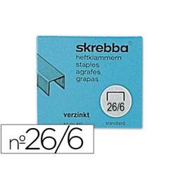GRAPAS SKREBBA SK-26/6 (442) -GALVANIZADAS -CAJA DE 5000