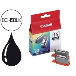 INK-JET CANON I70/80, IP90 DEPOSITO TINTA NEGRA -PACK 2- BCI-15BLK