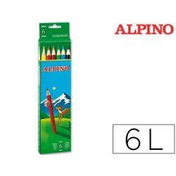 LAPICES DE COLORES ALPINO 653 C/ DE 6 COLORES LARGOS