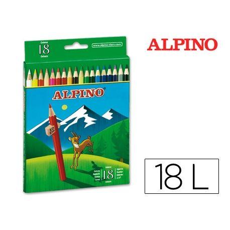 LAPICES DE COLORES ALPINO 656 C/ DE 18 COLORES LARGOS