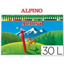 LAPICES DE COLORES ALPINO 659 30 COLORES -CAJA DE CARTON