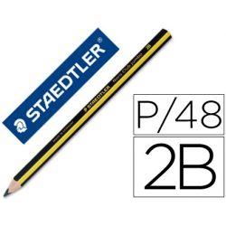 LAPICES DE GRAFITO STAEDTLER TRIPLUS 2B -EXPOSITOR DE 48 UNIDADES