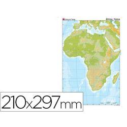 MAPA MUDO COLOR DIN A4 AFRICA -FISICO