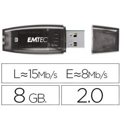 MEMORIA USB EMTEC FLASH C410 8 GB 2.0 NEGRO