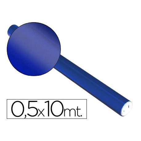 PAPEL METALIZADO AZUL ROLLO DE 0,5 X 10 MT