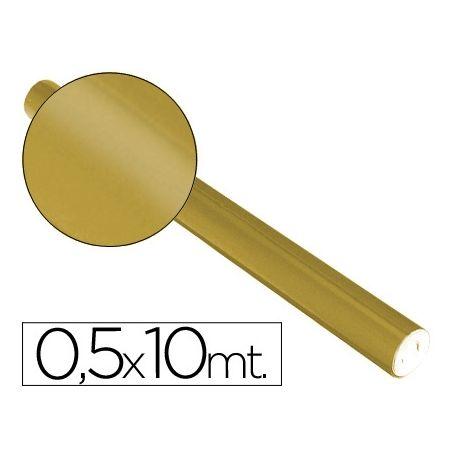 PAPEL METALIZADO ORO ROLLO DE 0,5 X 10 MT