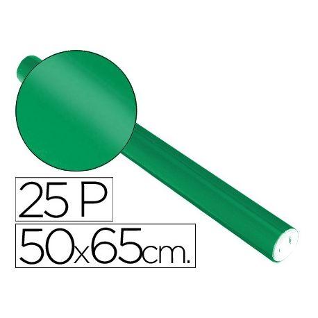 PAPEL METALIZADO VERDE ROLLO 25 HOJAS TREPADO 50X65 CM