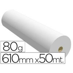 PAPEL REPROGRAFIA -PARA PLOTTER PLUS -BOBINA 610X50 M. 80 GRS. PARAIMPRESION INK-JET MONOCROMO
