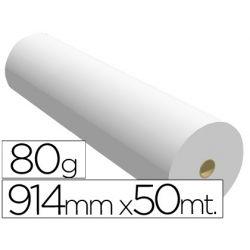 PAPEL REPROGRAFIA -PARA PLOTTER PLUS -BOBINA 914X50 M. 80 GRS. PARAIMPRESION INK-JET MONOCROMO
