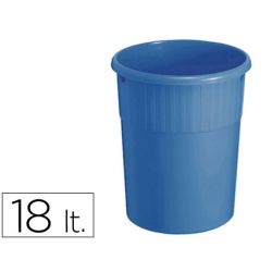 PAPELERA PLASTICO OFFISYS -7745 18 LITROS 31 CM DIAMETRO35 CM ALTO -AZUL