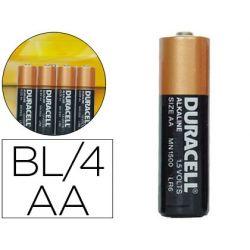 PILA DURACELL ALCALINA SIMPLY AA BLISTER CON 4 PILAS