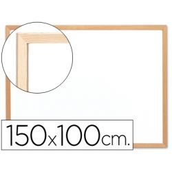 PIZARRA BLANCA Q-CONNECT LAMINADA MARCO DE MADERA 150X100 CM