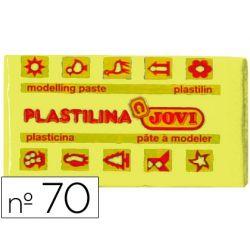 PLASTILINA JOVI 70 AMARILLO CLARO -UNIDAD -TAMA¾O PEQUE¾O