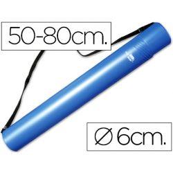PORTAPLANOS PLASTICO LIDERPAPEL DIAMETRO 6 CM EXTENSIBLE HASTA 80 AZUL