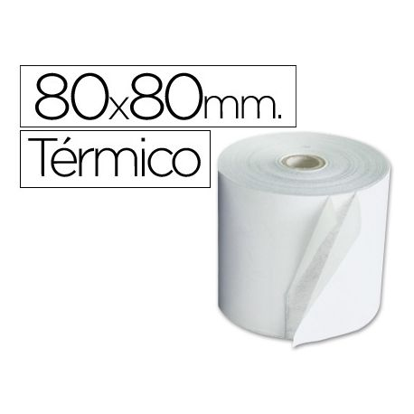ROLLO SUMADORA TERMICO Q-CONNECT 80 MM ANCHO X 80 MM DIAMETRO