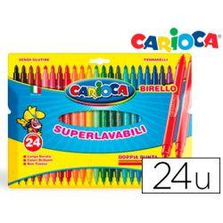 ROTULADOR CARIOCA BIRELO BIPUNTA CAJA DE 24 COLORES
