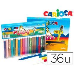ROTULADOR CARIOCA JOY CRISTAL CAJA DE 36 COLORES