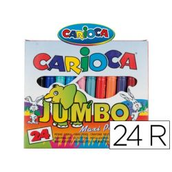 ROTULADOR CARIOCA JUMBO C/24 COLORES -PUNTA GRUESA