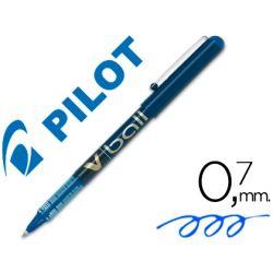 ROTULADOR PILOT ROLLER V-BALL AZUL 0.7 MM