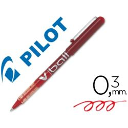 ROTULADOR PILOT ROLLER V-BALL ROJO 0.5 MM