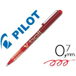 ROTULADOR PILOT ROLLER V-BALL ROJO 0.7 MM