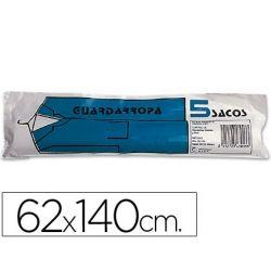 SACO GUARDARROPA GALGA 100 62X140 CM -ROLLO DE 5 SACOS