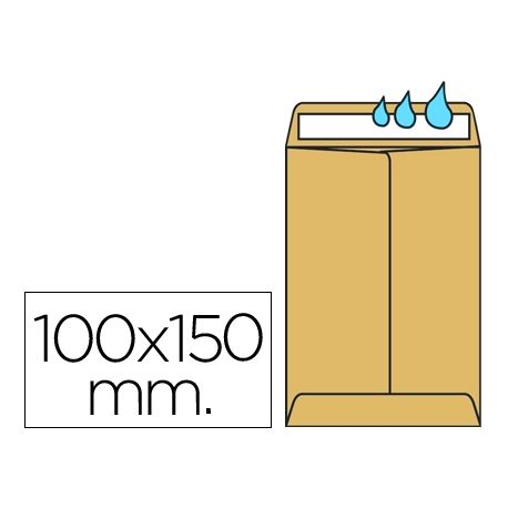 SOBRE LIDERPAPEL BOLSA N.1 KRAFT SALARIOS 100X150 MM ENGOMADO