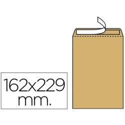 SOBRE LIDERPAPEL BOLSA N.5 KRAFT DIN C5 162X229 MM TIRA DE SILICONA
