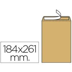 SOBRE LIDERPAPEL BOLSA N.6 KRAFT CUARTO PROLONGADO 184X261MM TIRA DE SILICONA