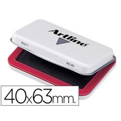 TAMPON ARTLINE N. 00 ROJO -40X63 MM