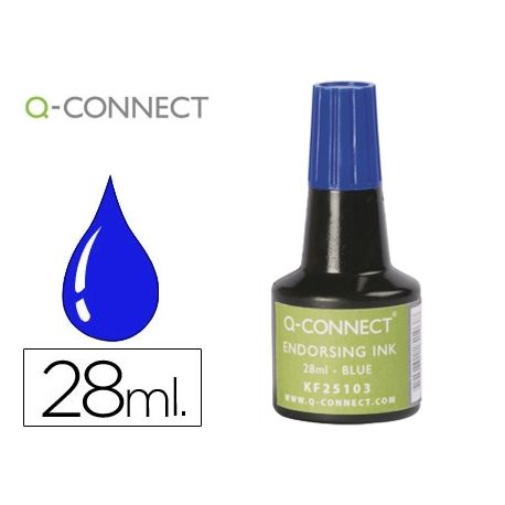 TINTA TAMPON Q-CONNECT AZUL -FRASCO DE 28 ML
